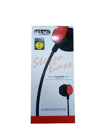 Fone Com Microfone Le-0209 Fashion Lelong