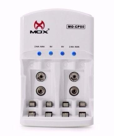 Carregador de Pilha Mox S/Pilhas MO-CP50
