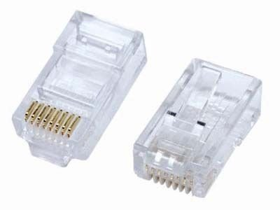 Conector p/cabo RJ45 10pçs  LE-14