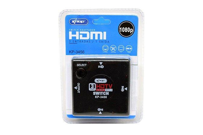 Divisor Hub Switch Hdmi 3 Em 1 Knup Kp-3456