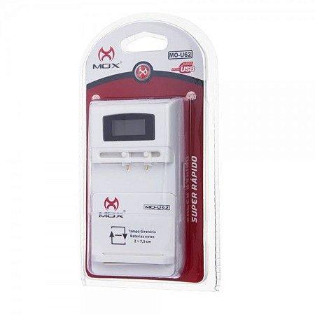 Carregador de Bateria Universal Mox Mo-U62