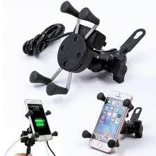 Suporte P/ Celular Moto Universal C/ Carregador USB SU02