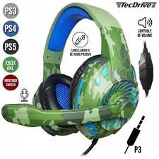 Fone Headset Tecdrive Gamer Camuflado P/CEL/PS3-PS4/XBOX ONE NSWITCH PX-2