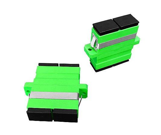 Adaptador óptico DUPLEX - SC/APC - 10 Unidades