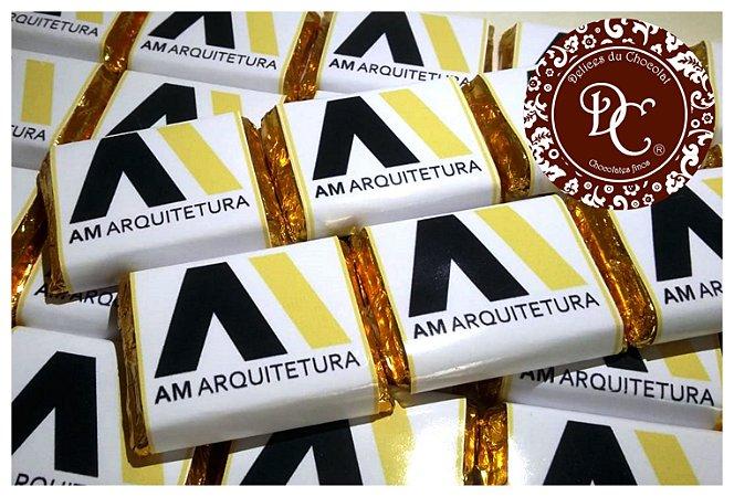 Tablete de chocolate personalizado com logo de empresa