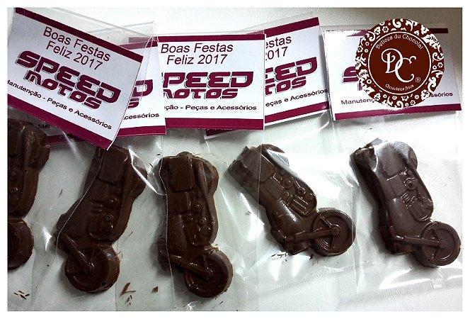 Brinde corporativo - Chocolate em formato de Moto
