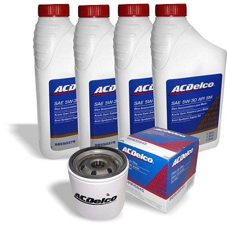 Kit troca oleo Semi-sintético ACDELCO/GM