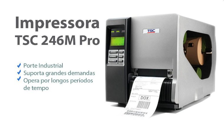 Impressora De Etiquetas Térmica TSC TTP 246m PRO