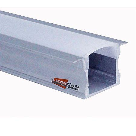 Perfil Led Alumínio Embutir 2,4cm x 1,2cm - LUM11