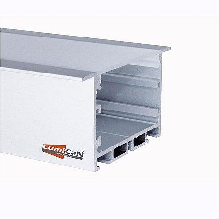 Perfil Led Alumínio Embutir 6,5cm x 3,5cm - LUM52