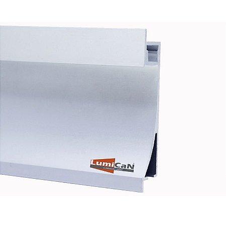 Perfil Led Alumínio Embutir Rodapé 1,4cm x 6,7cm - LUM92