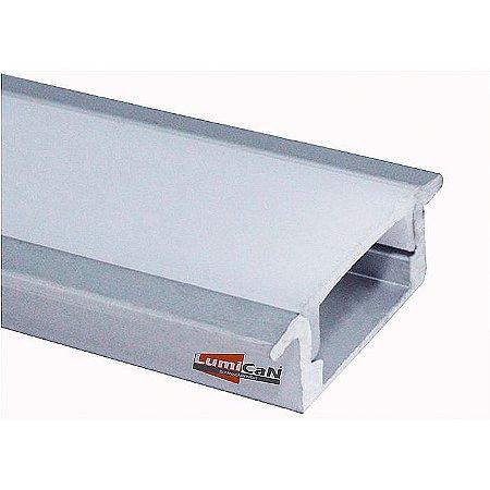 Perfil Led Alumínio Embutir Slim 2,4cm x 0,6cm - LUM21
