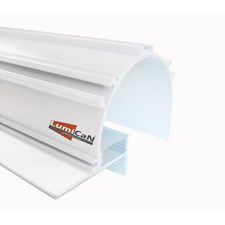 Perfil Led Alumínio No Frame Sanca Iluminação Indireta 10cm x 7,0cm - LUM93
