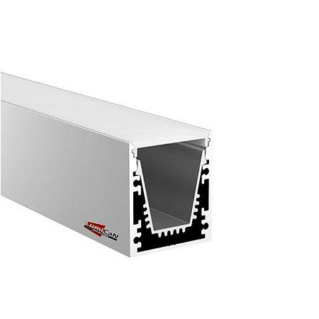 Perfil Led Alumínio Pendente ou Sobrepor 3,2cm x 3,0cm - LUM65