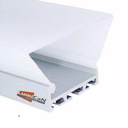 Perfil Led Alumínio Pendente ou Sobrepor 7,5cm x 4,0cm - LUM83