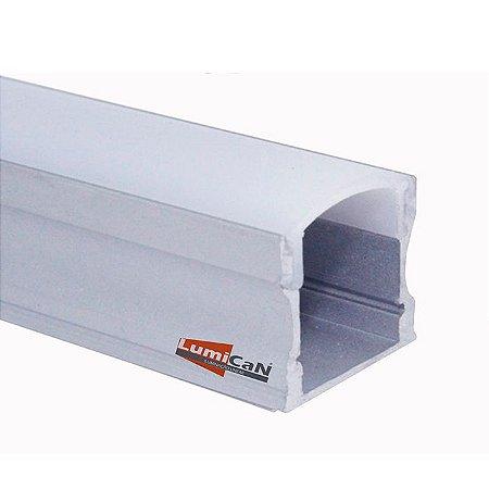 Perfil Led Alumínio Sobrepor 1,7cm x 1,5cm - LUM12