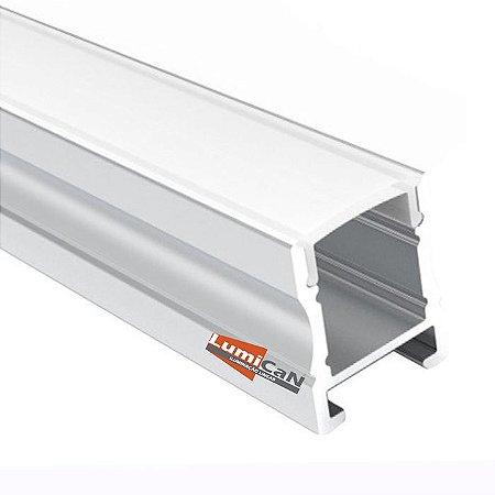 Perfil Led Alumínio Sobrepor 1,7cm x 1,8cm - LUM60