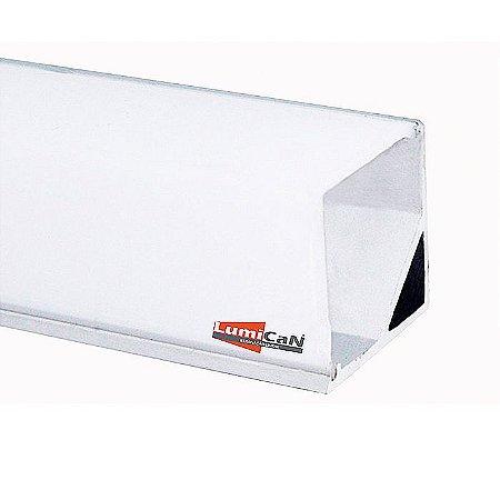 Perfil Led Alumínio Sobrepor Canto 90° 1,6cm x 1,6cm - LUM31