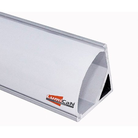 Perfil Led Alumínio Sobrepor Canto 90° 1,6cm x 1,6cm - LUM32