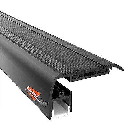 Perfil Led Alumínio Sobrepor Escada 6,6cm x 2,7cm - LUM42