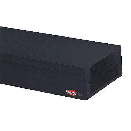 Perfil Led Preto Fumê Sobrepor Slim 1,7cm x 0,8cm - LUM22P