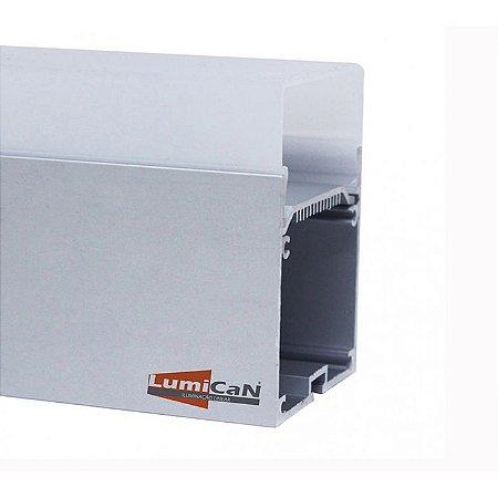 Perfil Led Alumínio Pendente 3,8cm x 8,0cm - LUM74