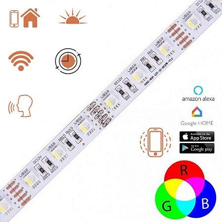 Fita LED Smart RGB e Branco Dimerizável Inteligente WiFi - LUMF62
