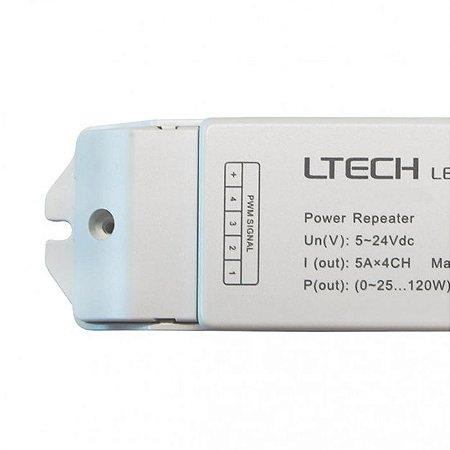Amplificador para fita RGB – 12V~24V 180W~360W - LUMD01