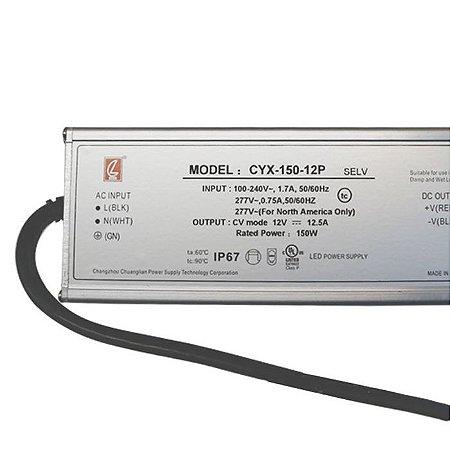 Fonte Blindada 12,5A 150w 12V Bivolt – Série PRO IP67 -  LUMD37