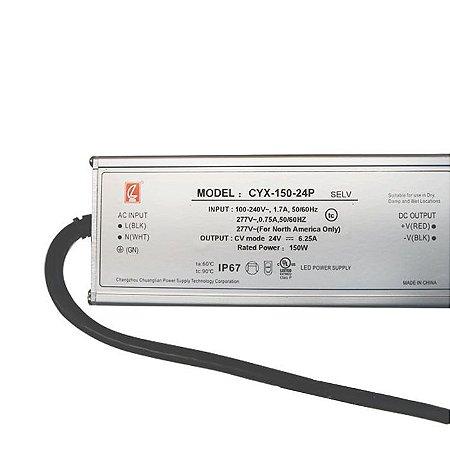 Fonte Blindada 6,5A 150w 24V Bivolt – Série PRO IP67 - LUMD40