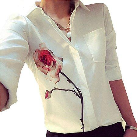 d0a366373 Camisa Social Estampa Floral - Linda   Modesta