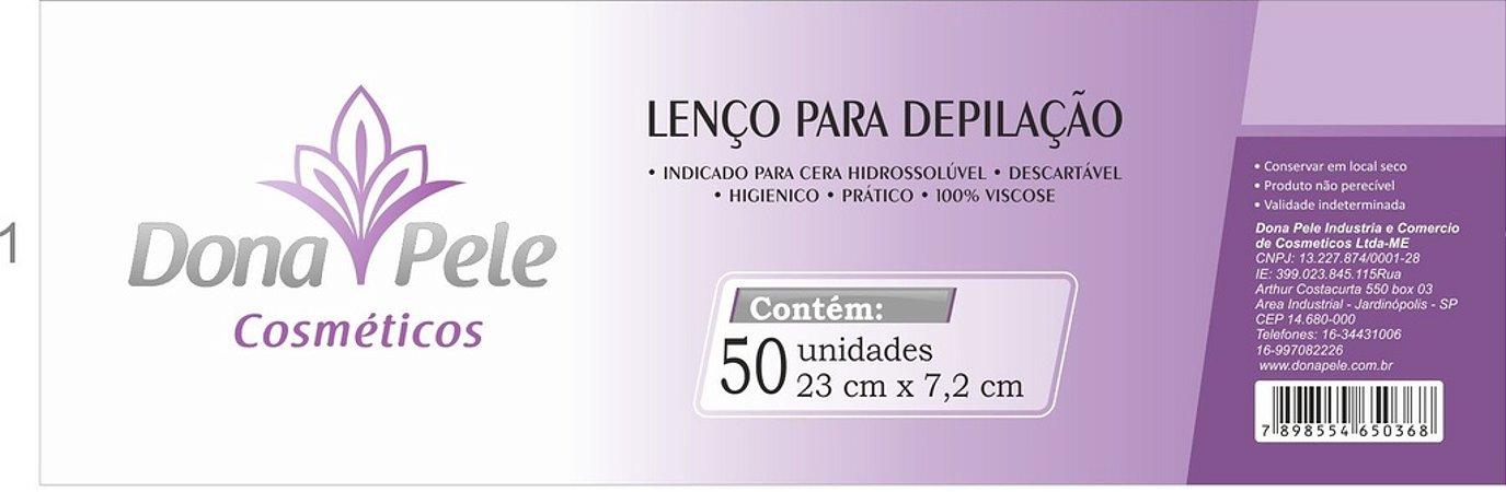 Lenço para Depilação - Lenço TNT 100% viscose (pacote c/ 50 folhas)