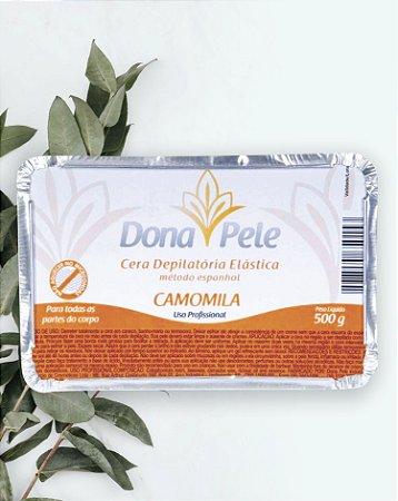 Cera Depilatória Elástica (em barra) Dona Pele Camomila 500g