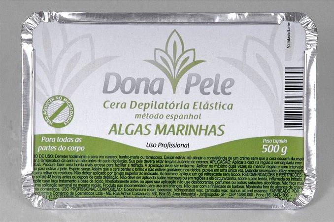 Cera Depilatória Elástica (em barra) Dona Pele Algas Marinhas 500g