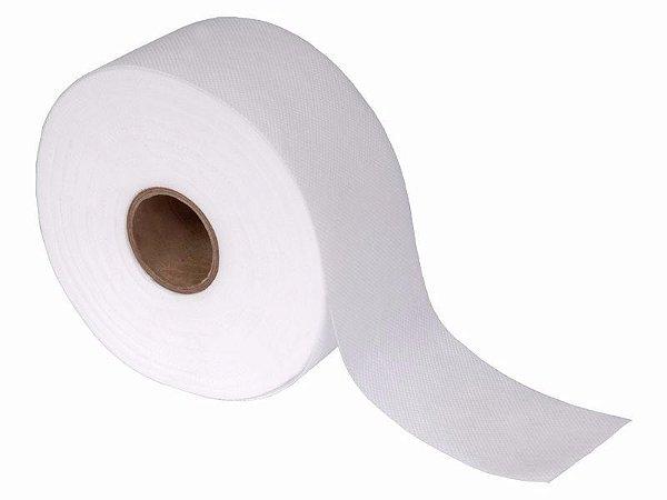 Papel Depilatório TNT furadinho 70gr branco fita 7,2cm Rolo 50m