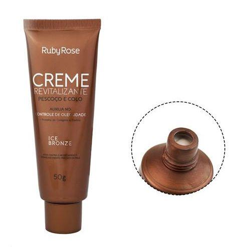 Creme Revitalizante Pescoço e Colo Pele Oleosa Ice Bronze HB422 - Ruby Rose