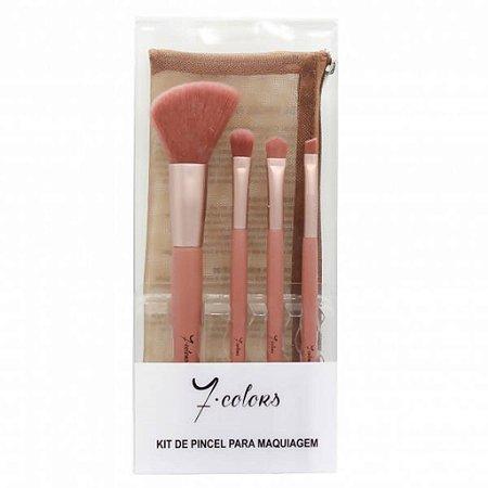 Kit de Pincéis para Maquiagem - 7 Colors