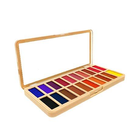 Paleta de Sombras 20 cores Colorful - Belle Angel