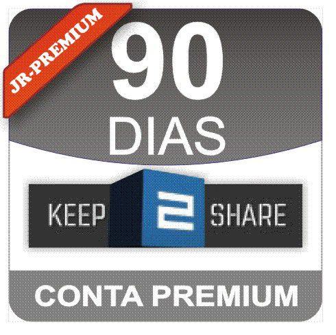 Conta Premium Keep2share 90 Dias