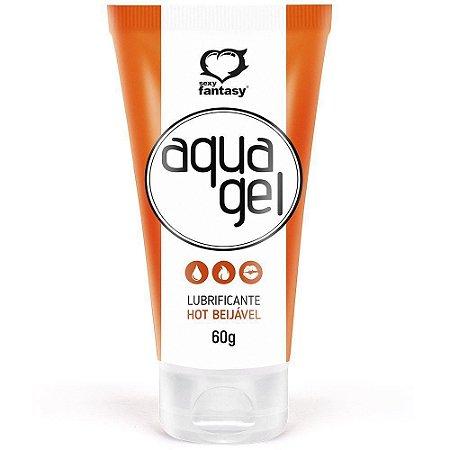 Aqua Gel Hot Lubrificante Beijavel Sexy Fantasy