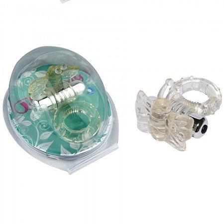 Anel Peniano Butterfy Com Vibrador Transparente