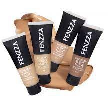 Base líquida Fenzza make up efeito matte