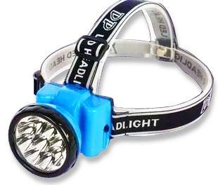 Lanterna De Cabeça Recarregável 9 Leds 400 Mah Confortável