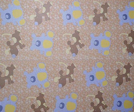 Papel De Parede Infantil Ursinhos Adesivado 5 Metros Por 45cm #6