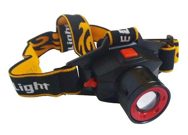 Lanterna De Cabeça 3 Modos Cree Led Zoom Super Iluminação