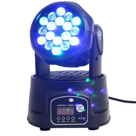 Mini Moving 18 Leds Rgb Iluminação Profissional Dj