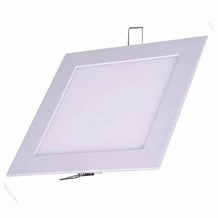 Luminária Led De Embutir 22 cm X 22cm 25w Paflon Branco Frio