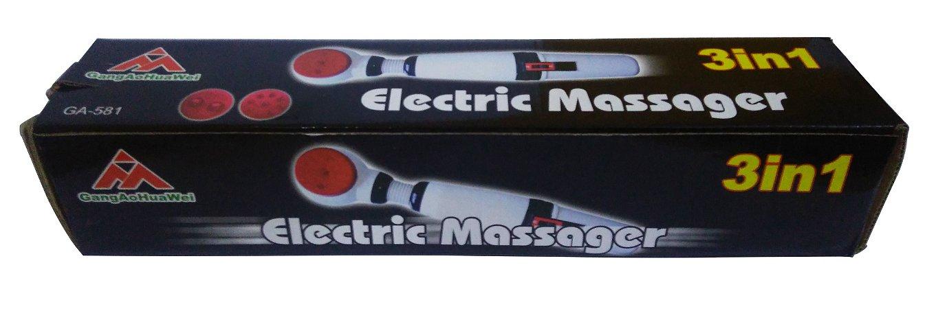 Massageador Eletrônico 3 Tipos De Massagem Em 1