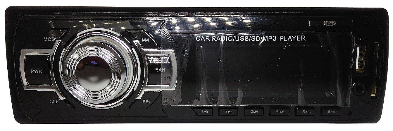 Som De Carro Com Mp3/ Usb / Sd / Controle Remoto Fm Hwz-3288