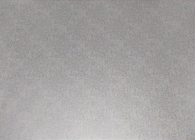 Papel De Parede Modelo Arabesco Estampa Cinza, 5 metros X 45 centímetros